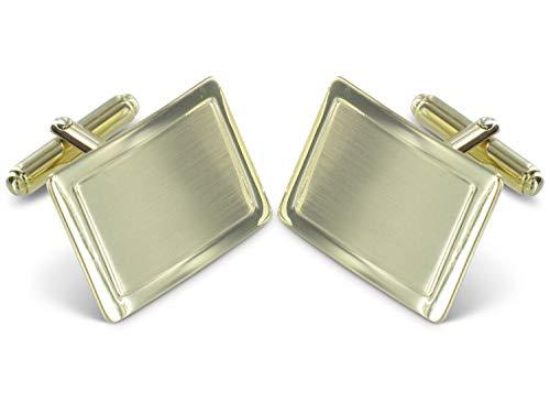 Grom Manschettenknöpfe Gold 585 rechteckig