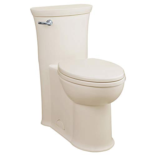 American Standard 2786128.222 Tropic 1.28 GPF One-Piece Elongated Toilet with Seat and 12-In Rough-In, Left Hand Trip Lever, Linen