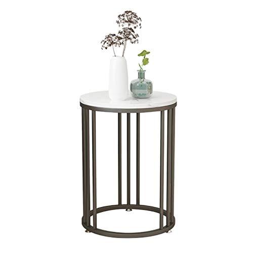 GJIF - Mesa baja redonda de mármol de mesa auxiliar, ascensor, mesa baja, salón, sofá, mesa auxiliar de mobiliario doméstico, altura 55 cm, negro, 55x40cm