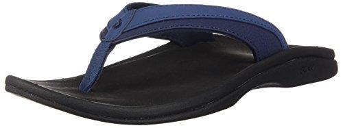 OLUKAI Women's Ohana Blueberry/Black Sandal 8 M US