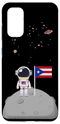 Galaxy S20 Boricua En La Luna Con la Bandera de Puerto Rico Borinaut Case