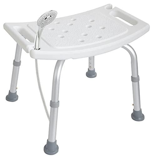 Akriva Duschhocker - höhenverstellbar - rutschfest - stabil - komfortabel - Badhocker - Duschsitz (Univeral Duschhocker)