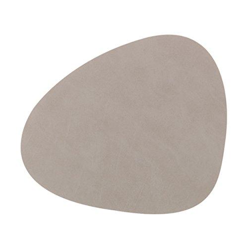 LindDNA 2 Stück Tischset CURVE L Nupo light grey 37x44cm, quality 1,2 mm