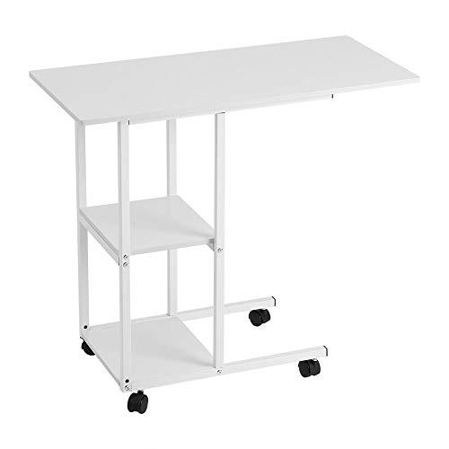 Ausla Überbett Tisch, Mobiler Betttisch Laptoptisch Laptopständer, bewegliche über Bett Tisch, auf Rollen, für Krankenbett, Pflegebett, Sofa Schreibtisch