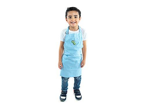 Mandil - Delantal Infantil para niños de 2 a 8 años con Cuello Ajustable Color Azul Cielo