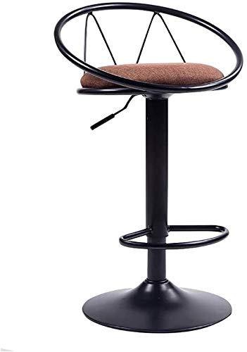 XBRMMM Hocker Barhocker Hauts De Restaurant, Hocker Sicherheit, Counter-Stuhl, Rotary Lift Hohl 62-82cm Geeignet für Barre De 90-120cm 3 Styles (Farbe, C),VS