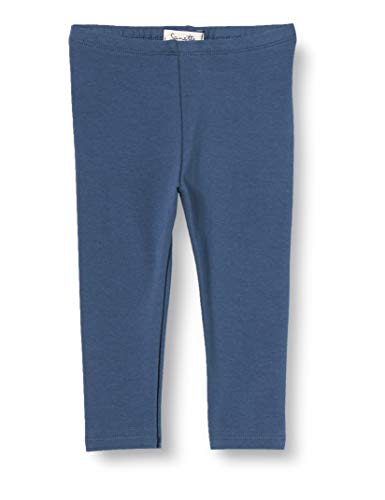 Sanetta Baby-Mädchen Leggings Blue Angenehm zu tragende Leggins aus Bio Baumwolle in einem beerigen Dunkelrot, blau, 080
