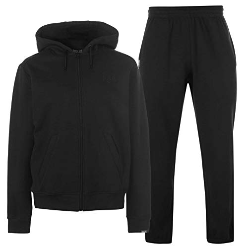 Everlast Herren Jog Suit Fleece Trainingsanzug Schwarz S