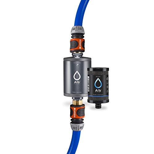 Alb Filter® MOBIL Active Trinkwasserfilter | Sauberes Trinkwasser unterwegs mit Boot, Yacht, Camping oder Mobilheim | Mit Gardena Anschluss Titan