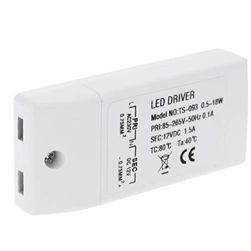 JRXyDfxn 12 Volt DC LED Stromversorgung Fahrer-Transformator-Spg.Versorgungsteil-Fahrer für LED-Licht Computer-Projekt Outdoor-Licht 18W Weiß