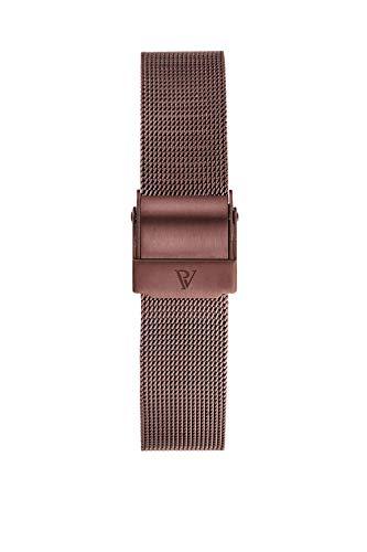 PAUL VALENTINE ® Uhren-Armbänder für Deine individuelle Uhr - In vielen Damenuhr (Coffee Mesh Strap