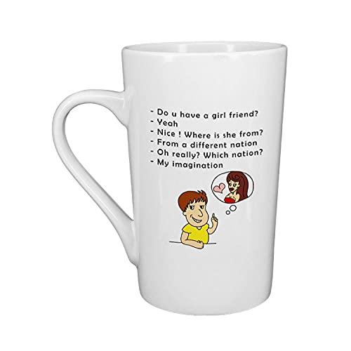 XXJJZON Taza de café de cerámica Resistente y Duradera - Taza Hermosa, Exquisita e Interesante Taza de cerámica con Imagen Hecha a Pedido como Regalo para Uso Diario - 401-500ml
