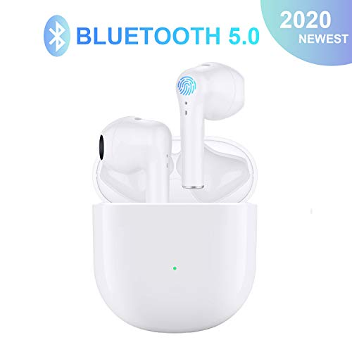 Wireless Earbuds Bluetooth 5.0 Earbuds Wireless Headphones with Charging Case Built in Mic Noise Cancelling 3D Stereo IPX5 Waterproof Headsets in Ear Ear Buds for iPhone/Android/Apple Airpods