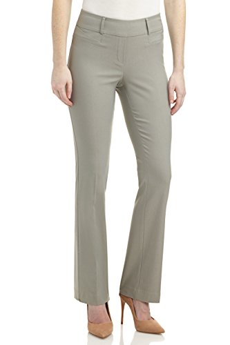Rekucci Pantaloni Bootcut Stretch Donna Ease in To Comfort Fit (52, Argento)
