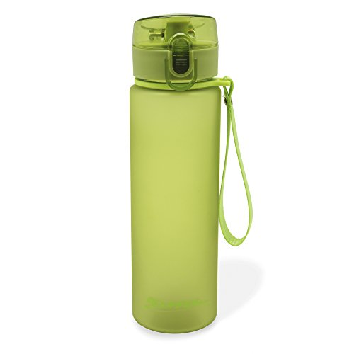 MELIANDA MA-7300 Trinkflasche Wasserflasche 550ml Nylon Handschlaufe grün