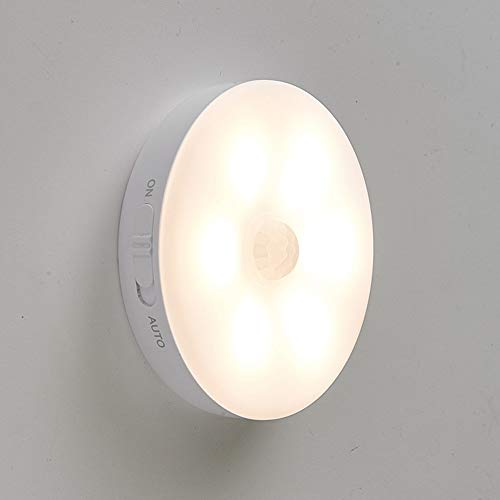 Schranklicht mit bewegungsmelder,Nachtlicht Wandlichter USB Wiederaufladbar LED Licht Intelligentes Sensorlicht,Batterie Powered Licht Für Kabinett,Schlafzimmer,Schrank,Flur,usw.(Warmes Licht 1Stück)