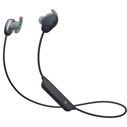 Sony WI-SP600N Black Premium Waterproof Bluetooth Wireless Extra Bass Sports In-Ear 6 Hr Of Playback Headphones/Microphone (International version)