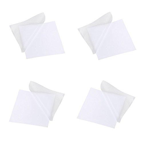 PULABO Paquet de 4 patchs de pièces de réparation auto-adhésives pour doudounes tentes/parapluies, rubans imperméables et résistants, portables transparents et utiles Ça marche