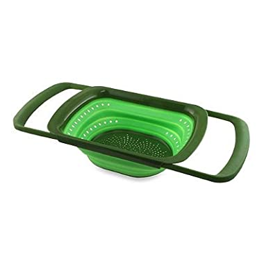 Squish Collapsible Over-the-Sink Colander, Green