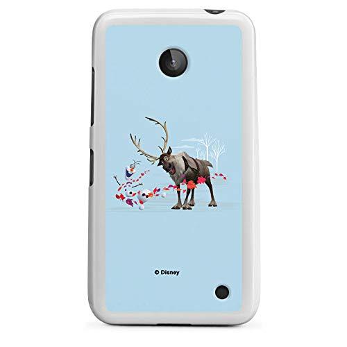 Silikon Hülle kompatibel mit Nokia Lumia 630 Dual SIM Hülle weiß Handyhülle Disney Frozen Olaf Die Eiskönigin