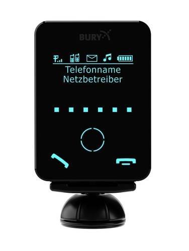 Bury CC9058Mono Bildschirm (Bury Freisprecheinrichtung; Bluetooth Kfz-Freisprechanlage 7,1cm; Monochrom abnehmbarer Touchscreen dialogplus Sprachsteuerung Zauberwort Aktivierung A2DP Audio-Streaming 3,5mm AUX Eingang–Kabel 30Watt Verstärker für bessere Sound Qualität Micro USB Ladekabel)