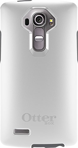 OtterBox Symmetry Case for LG G4 - Retail Packaging - White/Gunmetal Grey (Not Compatible with Leather LG G4)