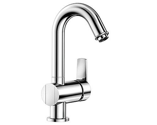 Blanco SAVA-WT, Waschtischarmatur, Einhebelmischer für Badezimmer, Wasserhahn für Bad-Waschbecken, Oberfläche chrom - mit Ablaufgarnitur