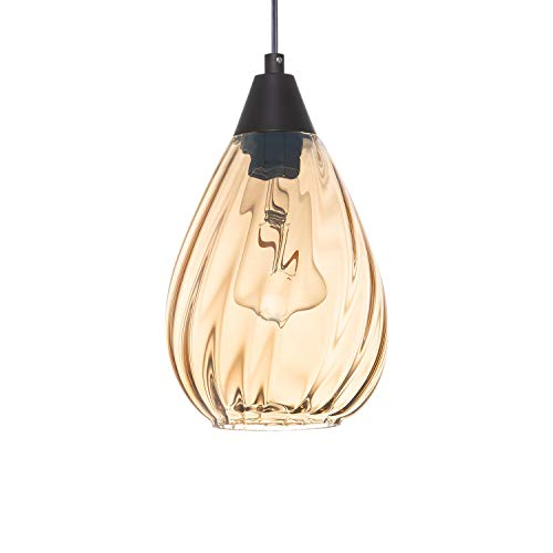 NALATI 1-Light Teardrop Pendant,Hanging Light Shade with...
