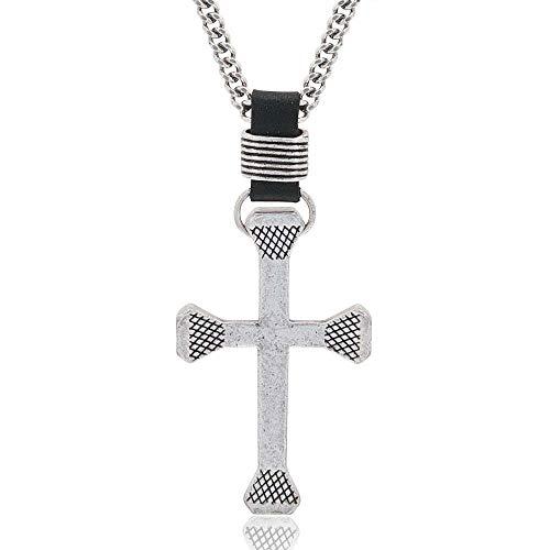 Montana Silversmiths Christian Faith Cross Men's Necklace (Rugged Cross Necklace)