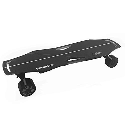 Lixada 300W Dual Motor Elektro Skateboard Elektro Longboard 23MPH Höchstgeschwindigkeit mit Licht