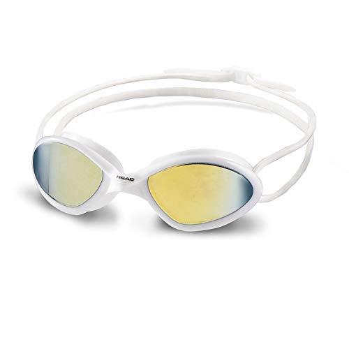 HEAD Tiger Mid Race Mirrored Schwimmbrille Unisex, Unisex, schwarz/weiß, Einheitsgröße