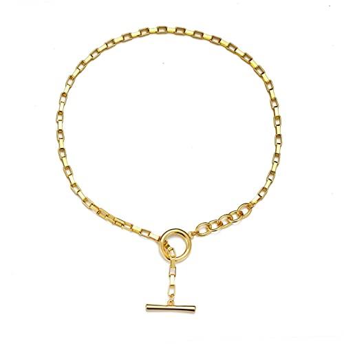 FGFDHJ Collar de Cadena en el Cuello Ropa de Mujer Accesorios Gargantilla Indie Regalo para mamá