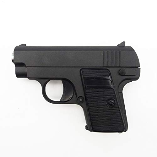 Rayline G9 Voll Metall Mini Pocket Softair (Manuell Federdruck), Maßstab 1:2, Gewicht 231g, 6mm Kaliber, Farbe: Schwarz