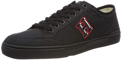 Tommy Hilfiger Core Corporate Seasonal Sneaker, Scarpe da Ginnastica Basse Uomo, Bianco (off White 156), 45 EU