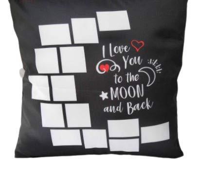 LOVE YOU TO THE MOON14 패널 사진 베개 케이스(PKG OF2)승화 열 프레스 승화 빈 DIY 베개 커버 SUBLIAMATION 베개 케이스