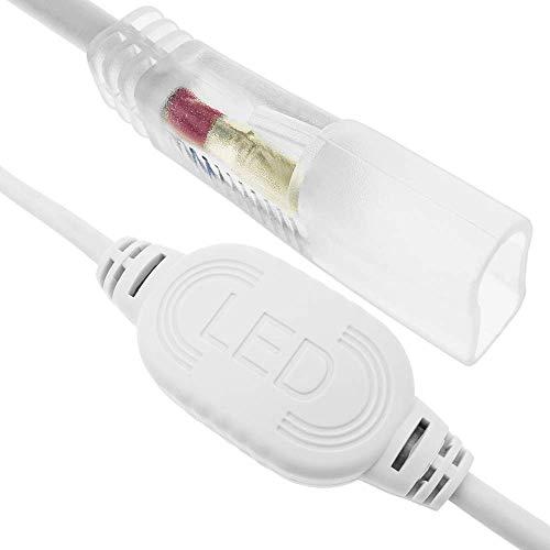 Preisvergleich Produktbild PrimeMatik - Elektrischer Stecker für LED Neon Flex LNF 2 Pin 16x8mm 220VAC