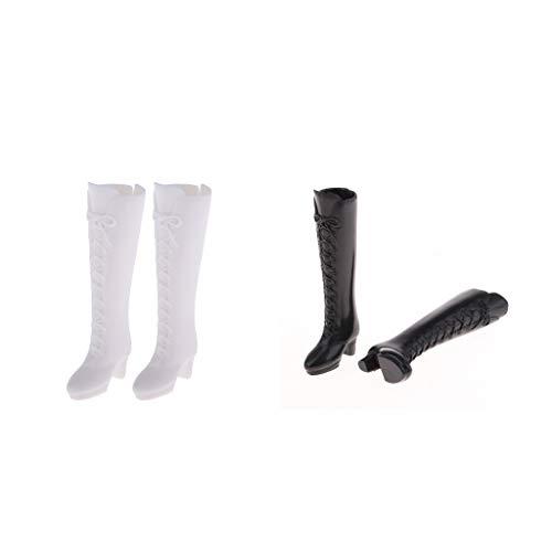 #N/A 2 Paar 1/6 BJD-poppen Leuke Schoenen Knielaarzen voor Momoko voor Blythe voor Licca