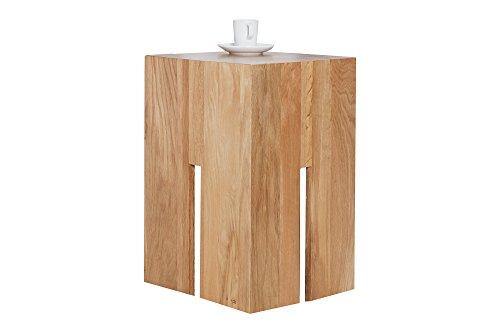 DuNord Hocker Catan Beistelltisch Wildeiche geölt Massivholz 45cm