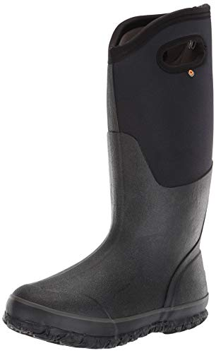 Bogs Women's Classic High Handle Waterproof Insulated Boot,Black,9 M US