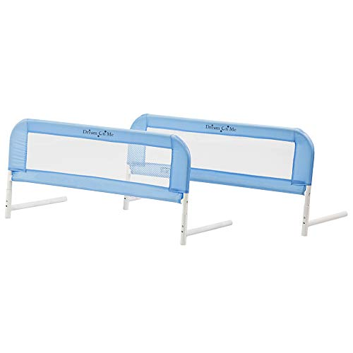 Dream On Me Mesh Bed Rails, Blue, Small/2 Count