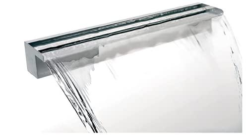 Ambienté Cascada de acero inoxidable- Suministro Trasero (90cm, Suministro Trasero)