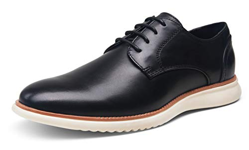 Jousen Men s Black Dress Shoes Brogue Formal Lace Up Oxfords Shoes(AMY731 Black 10)