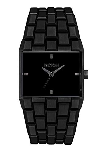 NIXON Ticket A1262 - All Black - 50m Water Resistant Men's Analog Fashion Watch (34mm Watch Face, 30mm-23mm Stainless Steel Band)