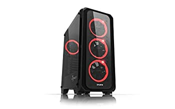 Zalman Z7 NEO ATX Mid Tower Gaming PC Case Tempered Glass 4 Pre- Installed 120mm RGB LED Ring Fans