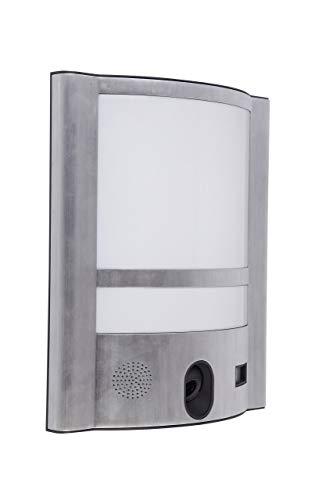 Eco-Light LED-Kameraleuchte Vesta, Live Bilder aus Ihrem Garten oder an der Haustür. Praktisch über eine APP steuerbar. 8 GB Speicher (bis 32GB) 30 Watt Licht für extra Sicherheit.