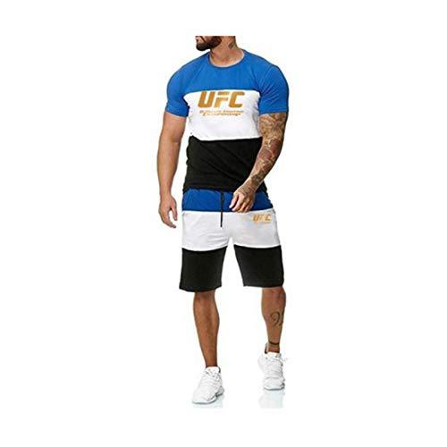 Camisetas Camiseta para Adultos, Boxing Fitness UFC Impreso Pantalones Cortos Deportivos, Ligero y Transpirable (Size : Large)