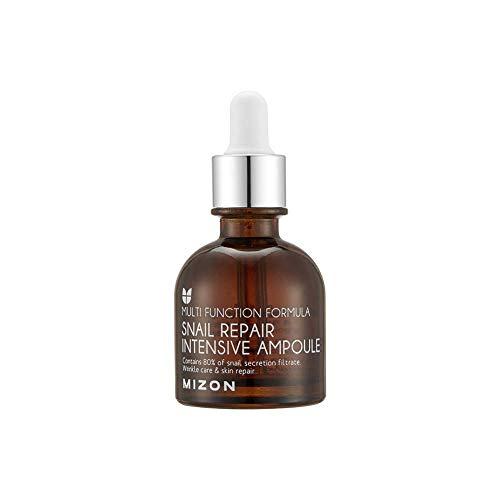 [Mizon] Schnecke Reparatur Ampulle (30ml) Gesichtsserum mit 20% Schneckenschleim Extrakt; Serum mit Hyaluronsäure, Koreanische Hautpflege {Snail Repair Intensive Ampoule}