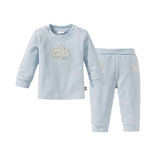 Bornino Basics Schlafanzug lang Wolke (2-TLG.) - Baby-Pyjama mit applizierten Wolken-Details & Sternchen-Print - Schlafanzug-Hose/Langarmshirt