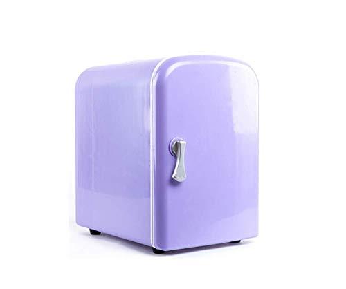 LNDDP Refrigerador del Coche, congelador portátil Coolbox Mini Paquetes Nevera Sin Ruido Ahorro energía y luz Camping Travel Cola Beer 4L
