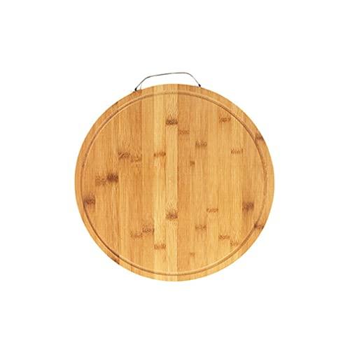 Tabla de Cortar Tabla de cortar de bambú Cocina engrosada Tableros de corte duraderos con tablero de corte de fruta redondo con agujero colgante (14.05 * 0.75inches) Tabla Cortar Cocina